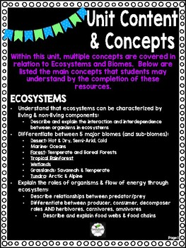 FULL UNIT Ecosystems and Biomes of the World - Great for End of Year Fun