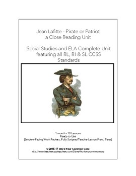 RL RI Scripted 6-Week UNIT Jean Lafitte Pirates Louisiana ELA