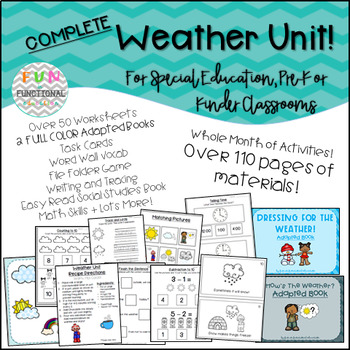 FULL Weather Unit for Special Education, Autism, Pre-School/Kinder