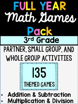 FULL YEAR 3rd Grade MATH Games - Addition, Subtraction, Multiplication, Division