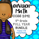 EnVision Math 4th grade (2012) FULL YEAR BUNDLE Topics 1-1