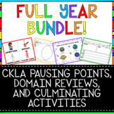 FULL YEAR BUNDLE - Pausing Points, Domain Reviews, Culminating Activities