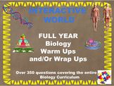 FULL YEAR Biology Daily Starters and/or Wrap Ups