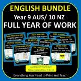 FULL YEAR ENGLISH PROGRAM Year 9 Year 10 BUNDLE Australia