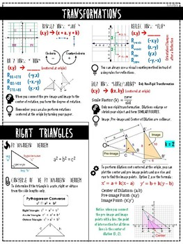FULL YEAR GEOMETRY FORMULA & REFERENCE PACKET (EOC/TEST PREP)