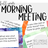 Full Year of Morning Meeting/Community Circle Questions