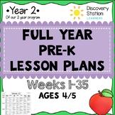 FULL YEAR PreK Lesson Plans (35 Weeks) 4 Year Old Preschool