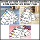 FULL YEAR SET of Vocabulary Words & Portable Lists for Writing Centers