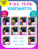 FULL YEAR Sight Words Kindergarten (No! Prep!)-Printables, Assessments, and More