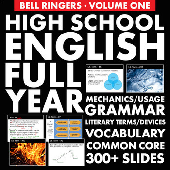 Bell Ringers – H S  English Vol  1 – Vocabulary, Grammar & Literary Terms