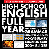 Bell Ringers – H.S. English Vol. 1 –  Vocabulary, Grammar & Literary Terms