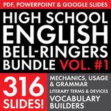 Bell Ringers – H.S. English Vol. 1 –  Vocabulary, Grammar