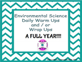 UPDATED!!!!! FULL YEAR of Environmental Science Starters/Wrap Ups