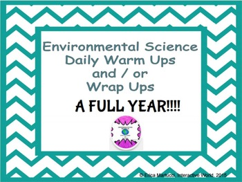 FULL YEAR of Environmental Science Starters/Wrap Ups