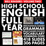 Bell Ringers – H.S. English Vol. 2 – Vocab, Grammar & Logic Puzzle/Brain Teasers