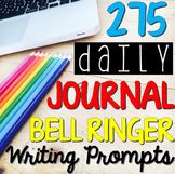Bell Ringer Journal - Daily Writing Prompts (FULL YEAR: 275 Total Prompts)