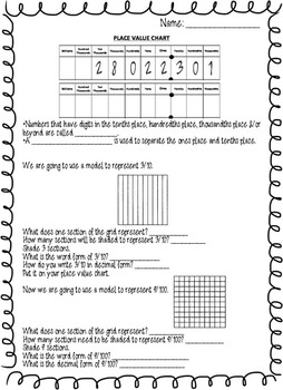 FULL decimal unit plan with game, activity, notes, and exit slips CCSS aligned88