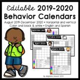 FULLY EDITABLE 2019-2020 Clip Chart Behavior Calendars