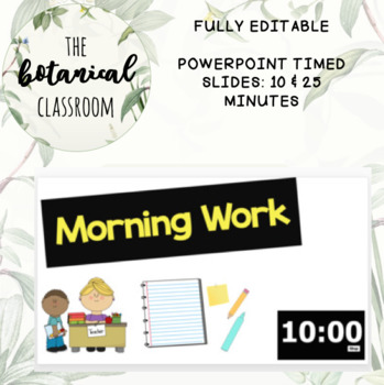 FULLY EDITABLE POWERPOINT TIMER SLIDES: 10 & 25 MINUTES +GROWING BUNDLE