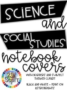 FULLY EDITABLE Science & Social Studies Notebook Covers VA SOLs