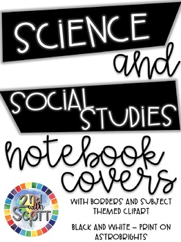 FULLY EDITABLE Science & Social Studies Notebook Covers VA SOLs