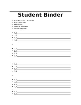 FULLY EDITABLE Student Data Binder Pages