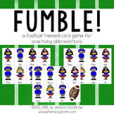 FUMBLE!  A Football Themed Abbreviations Game