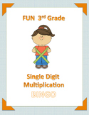 FUN 3rd Grade Single-Digit Multiplication BINGO