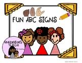 FUN ABC SIGNS