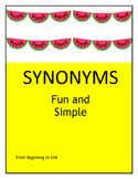 FUN AND EASY SYNONYMS