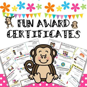 FUN AWARD CERTIFICATES FOR THE END OF THE YEAR
