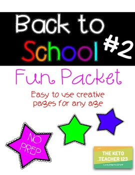 FUN Back to School Packet ~NO PREP~