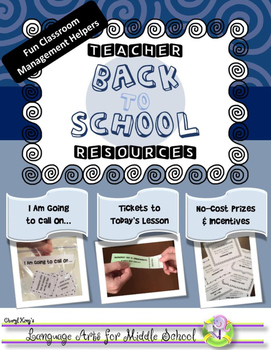 FUN Back to School Teacher Resources for Classroom Management