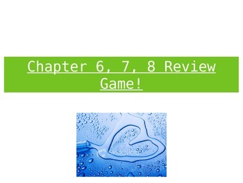 FUN Bonding Review Game For Exam!