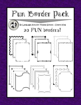 FUN Border Pack -- Personal and Commercial Use!