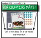 FUN COUNTING MATS 20 pack BUNDLE❤️GROWing set! Pre-k, kindergarten count 1-20!❤️
