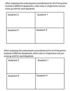 FUN Common Core Activty: Cartesian Coordinate Plane - Quadrants - Ordered Pairs