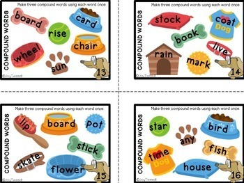Compound Words – Task Cards for Literacy Center