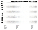 FUN & EASY Word Search: Art Terms- Color Theory, Drawing, Art Elements