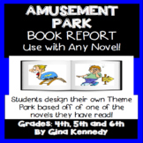 """""""Theme Park"""" Book Report For Any Novel, Step-by-step Directions!"""