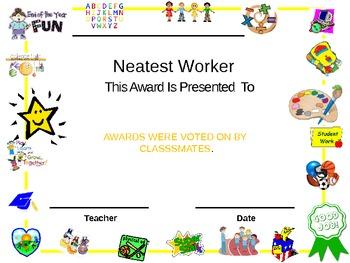 FUN! END OF YEAR AWARDS