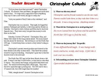 Christopher Columbus Reading Comprehension Passage