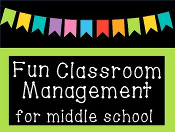 FUN & FREE Classroom Management Plan for Middle School