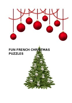FUN FRENCH CHRISTMAS PUZZLES