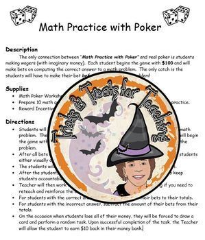 Math Practice with Poker GAME Class Activity All Skills FUN! Students LOVE this!