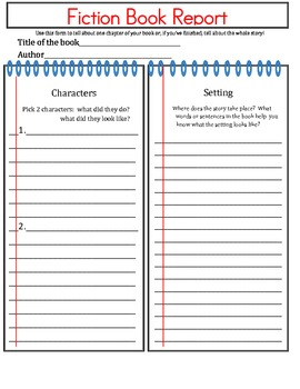 FUN Fiction and Non-Fiction 3rd/4th Grade Reader Response Forms