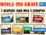 BBC Would You Rather (7 engaging middle school history review activities) PART 2