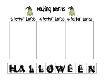 FUN! Halloween Literacy Workstations