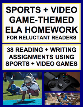 FUN Homework: Sports & Video Game-Centered Prompts: Engage Reluctant Readers!