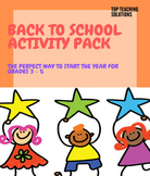 FUN IN THE FIRST WEEK (BACK TO SCHOOL ACTIVITY PACK GRADES 3 - 5)